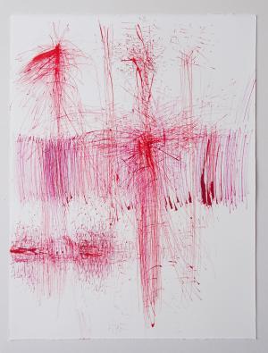 Rhomberg-Malin Ruth - Springender Punkt, Tuschezeichnung, 2020